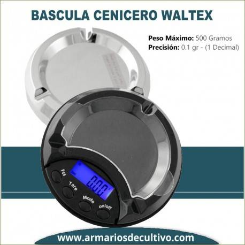 Báscula Cenicero Waltex (500 Gr. x 0.1)