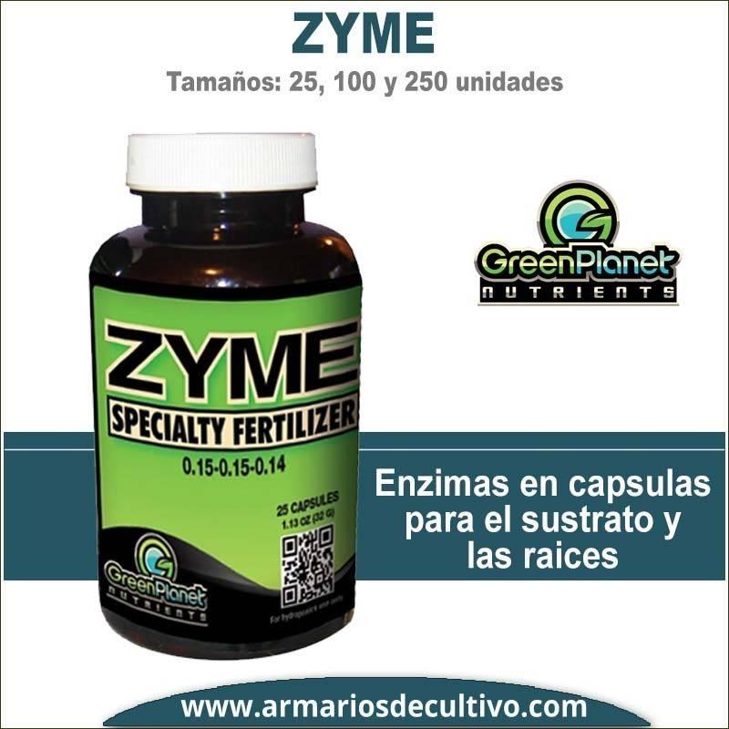Zyme Caps (25,100 y 250 Capsulas) - Green Planet