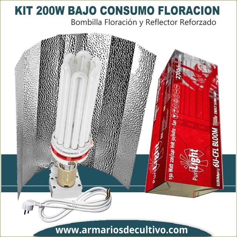 Kit Bajo Consumo 200w Floración