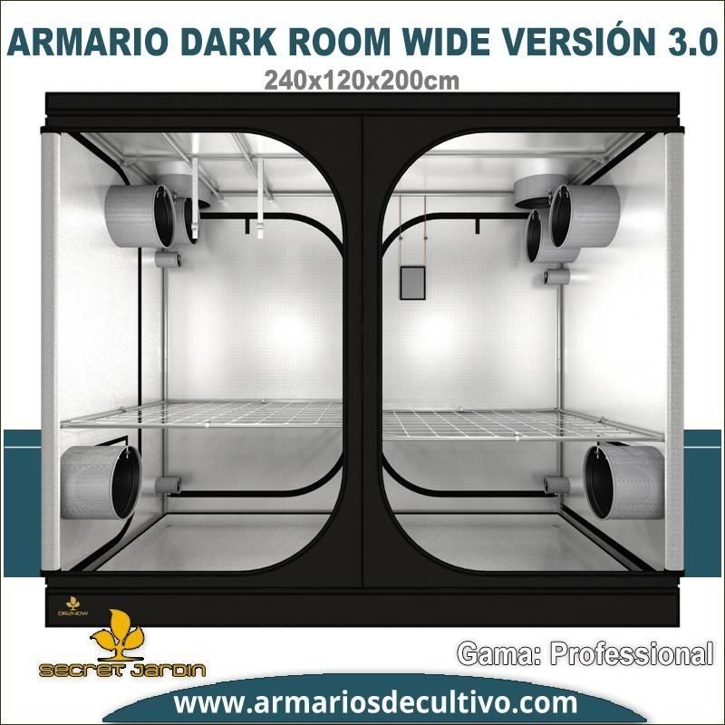 Armario de cultivo Dark Room 240x120x200 3.0