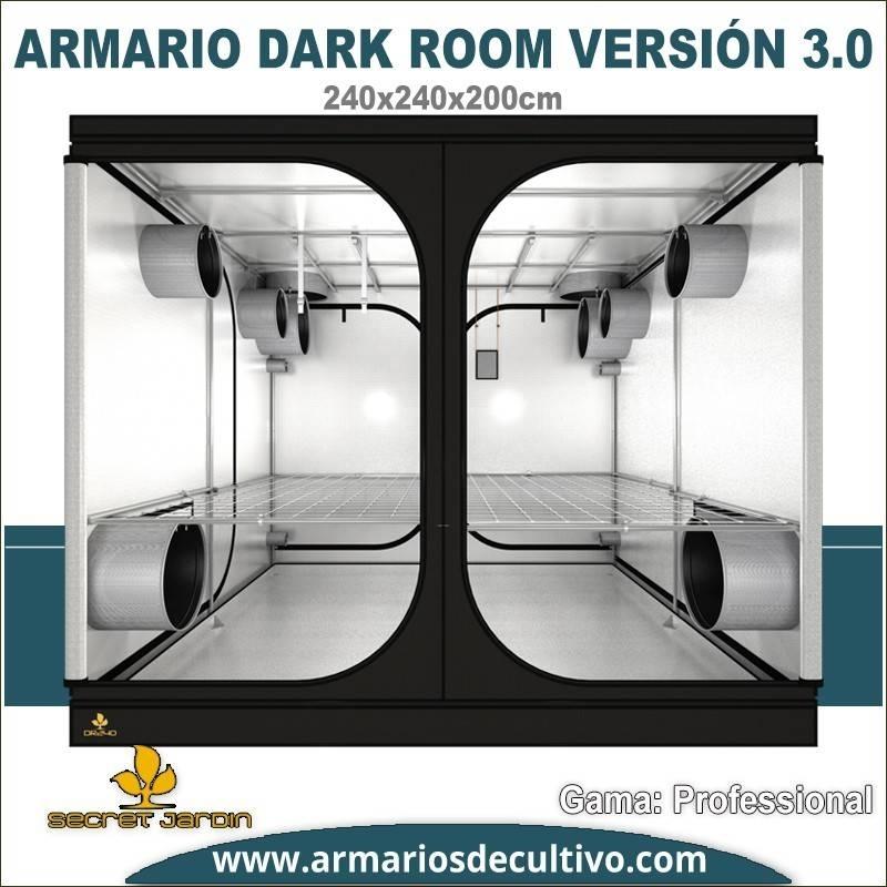Armario de cultivo Dark Room 240x240x200 3.0