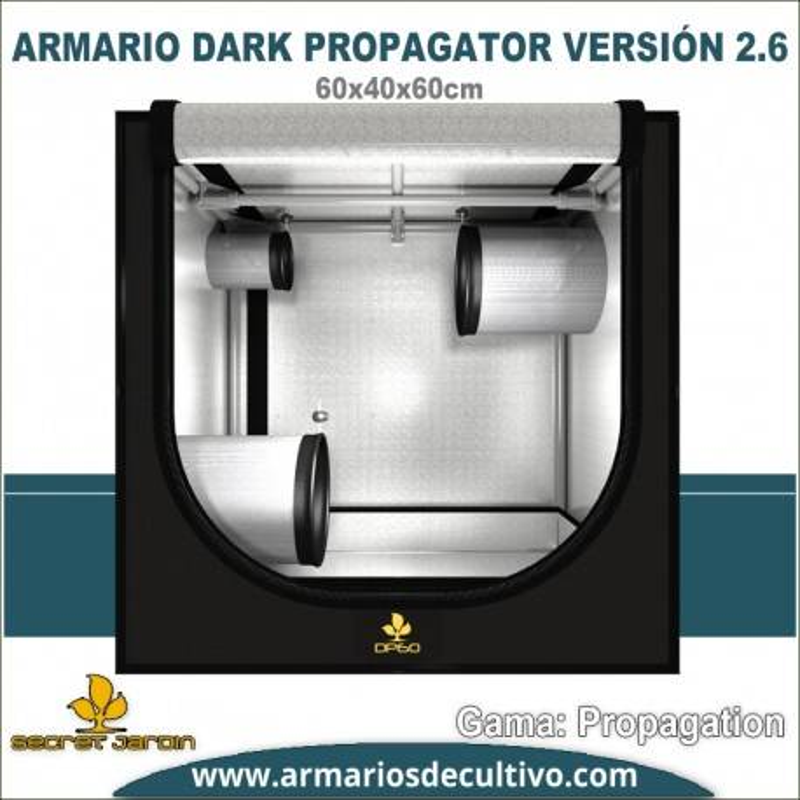 Armario de cultivo Dark Propagator 60x40x60 2.6