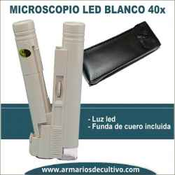 Microscopio blanco 40x con luz Led