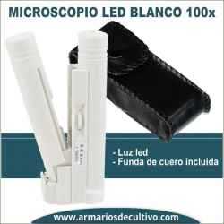 Microscopio blanco 100x con luz Led
