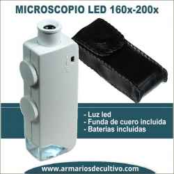 Microscopio 160x-200x con luz Led
