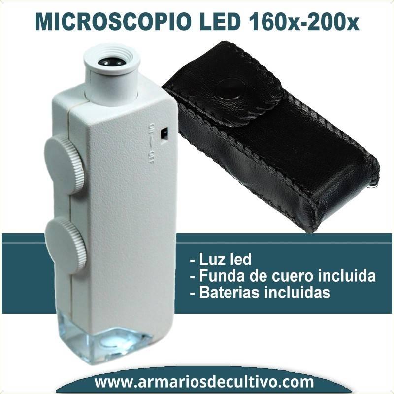 Microscopio 160x-200x con luz Led