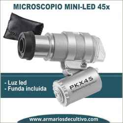 Microscopio Mini 45x con luz Led