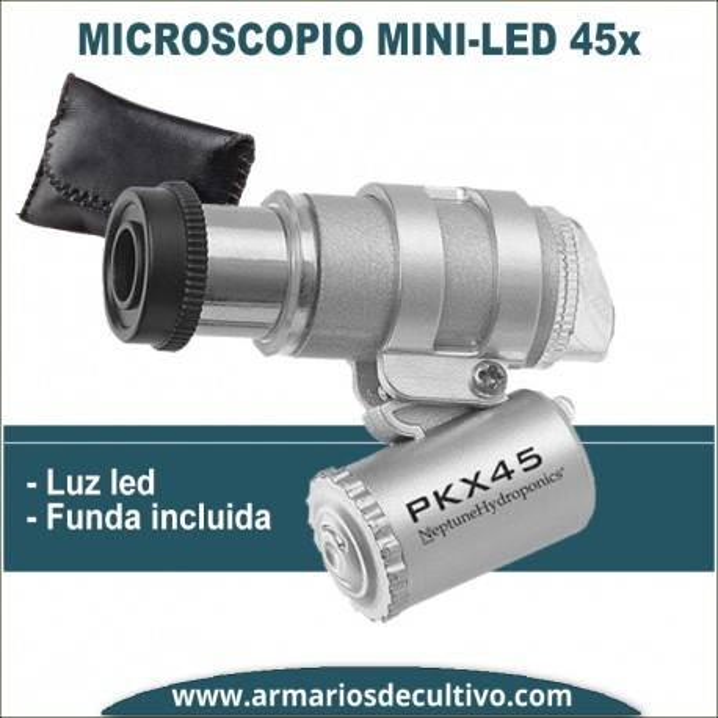 Microscopio Mini 45x con luz Led