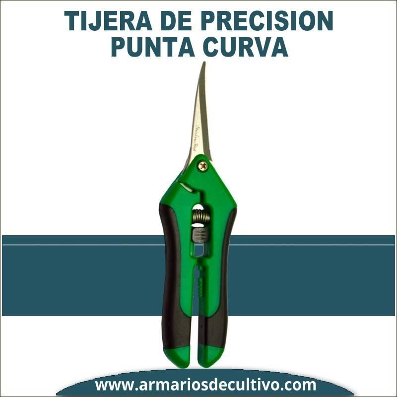 Tijera punta curva de precisión