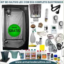 Kit Armario de Cultivo LEC 315w Eco electrónico
