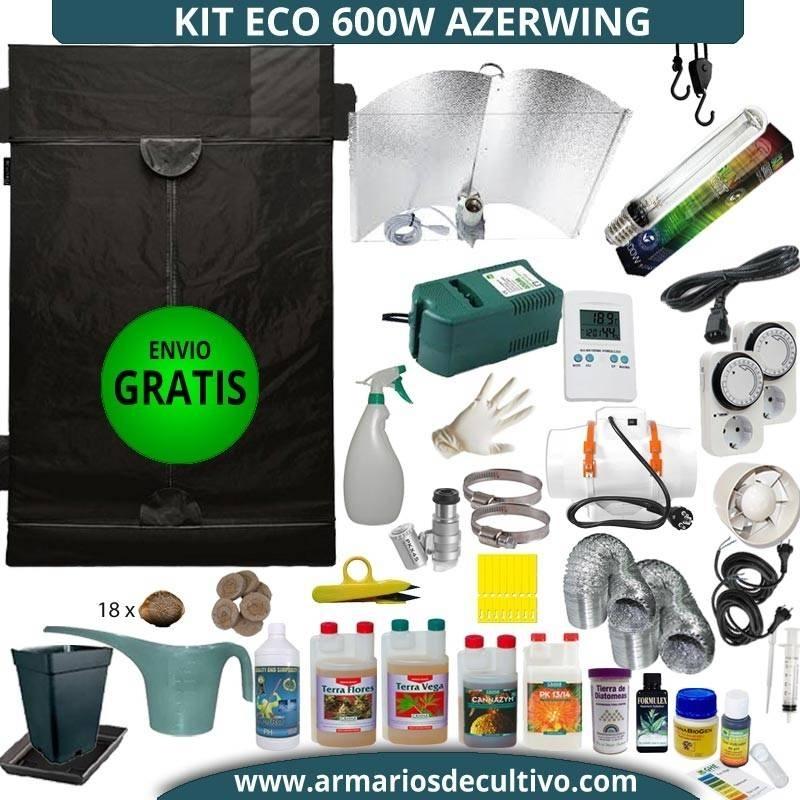 Kit armario de Cultivo 600w Eco Azerwing