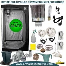 Kit Armario de Cultivo LEC 315w Medium electrónico