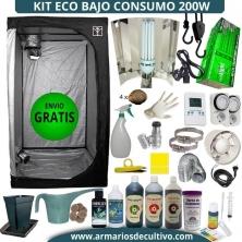 Kit Armario de Cultivo 200w bajo consumo Eco
