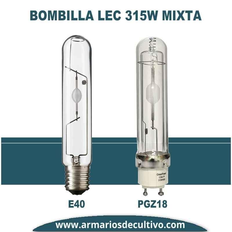 Lámpara LEC 315w Mixta - Casquillo a Elegir