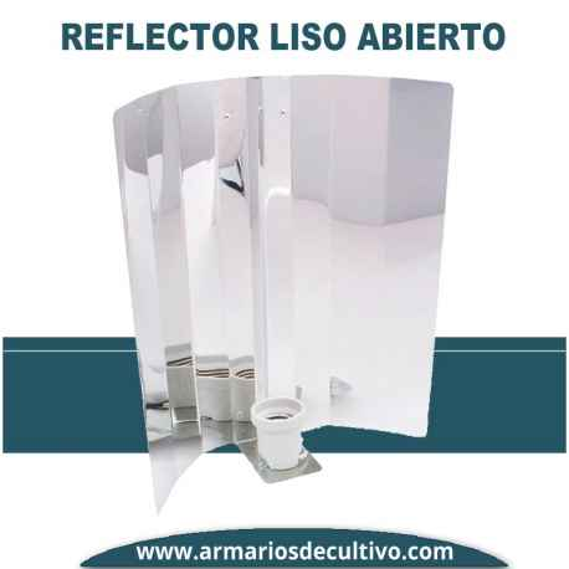 Reflector Abierto Aluminio Liso