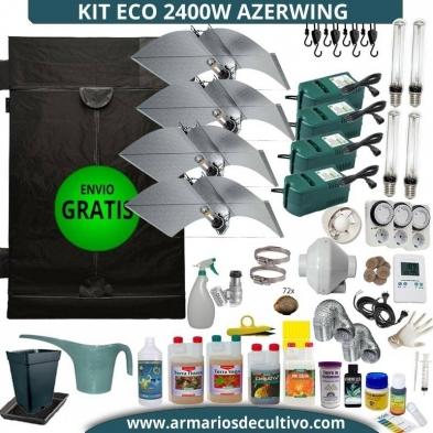 Kit 2400w Eco Azerwing CON GARRAFAS Y MEDIDORES DIGITALES