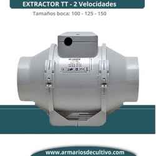 Extractor TT (100 - 125 - 150) de 2 Velocidades - Vents
