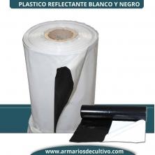 Plástico Reflectante Blanco y Negro