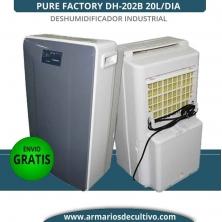 Deshumidificador DH-202B Pure Factory 20L/Día industrial