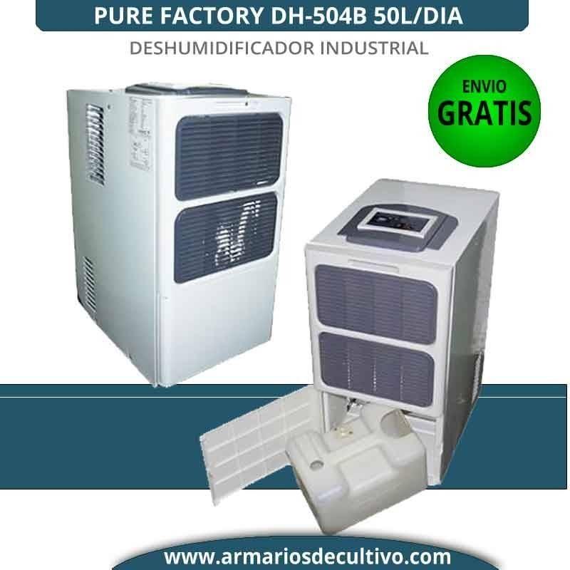 Deshumidificador DH-504B Pure Factory 50L/Día industrial