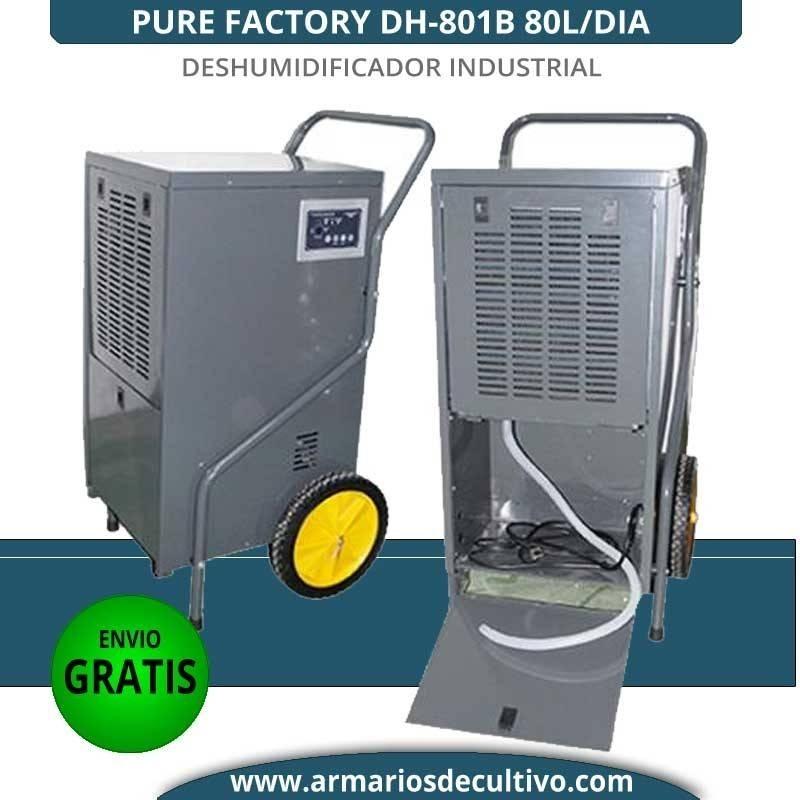 Deshumidificador DH-801B Pure Factory 80L/Día industrial