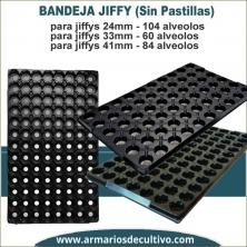 Bandeja para Jiffys Sin pastilla