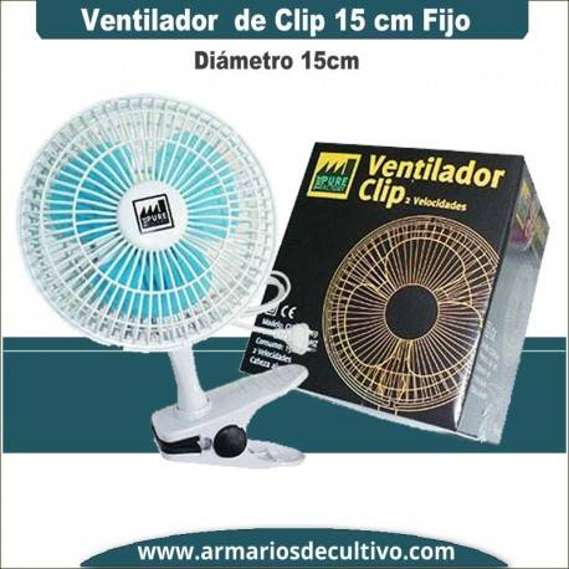 Ventilador de Clip 15 cm Pure Factory