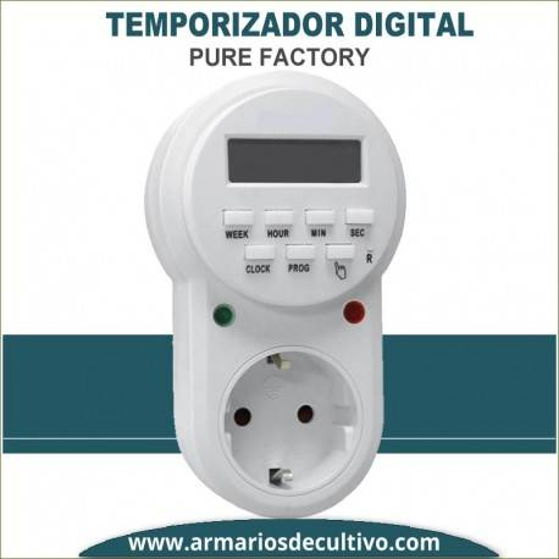 Temporizador Digital Semanal Pure Factory