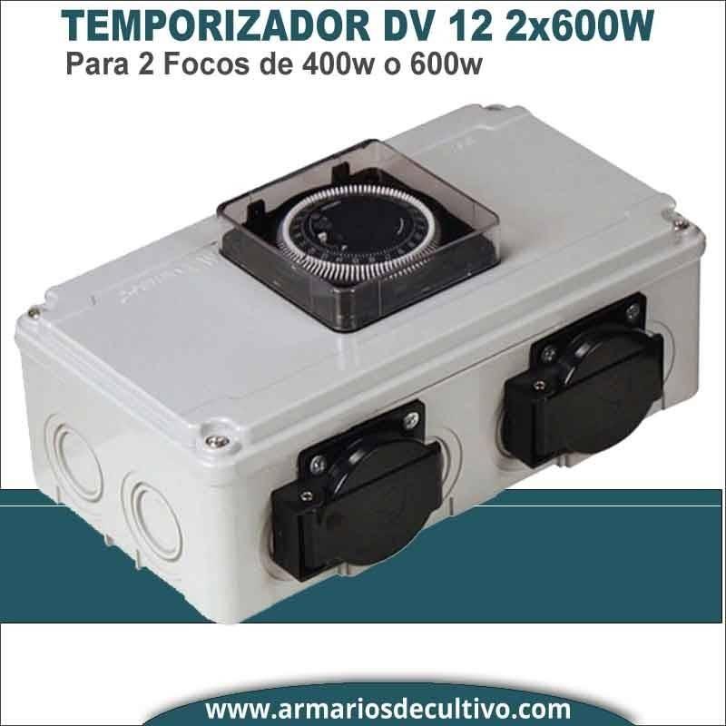 Temporizador Caja DV 12 2x600W