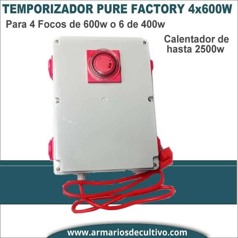 Temporizador PS 4x600w con Calefacción