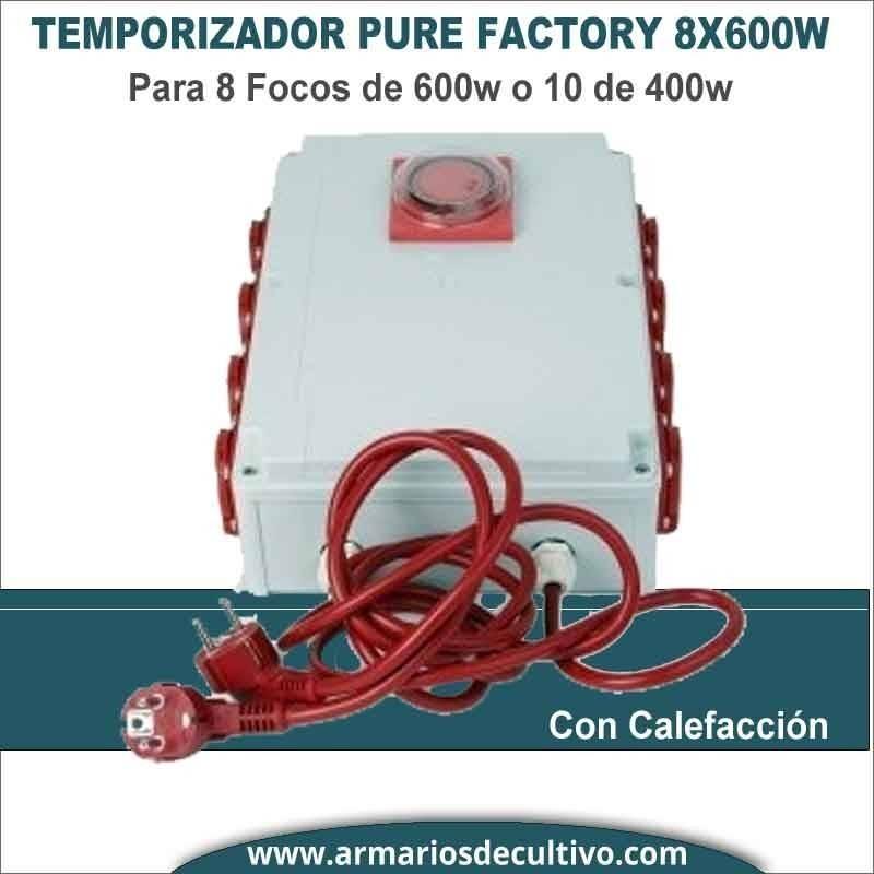 Temporizador PS 8x600w con Calefacción