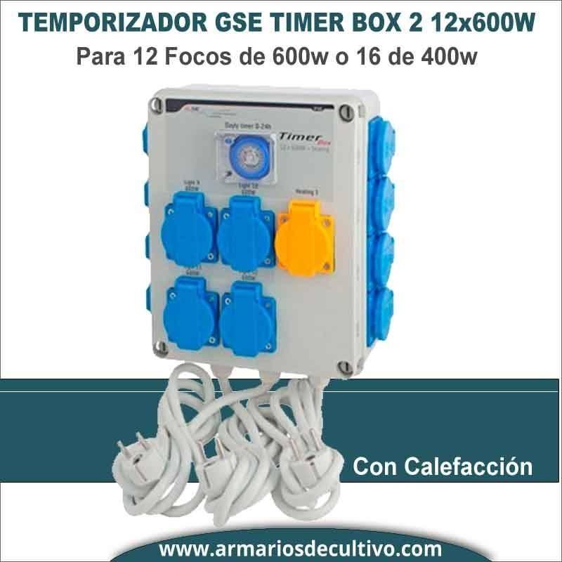 Temporizador 12x600w GSE Timer Box II con calefacción