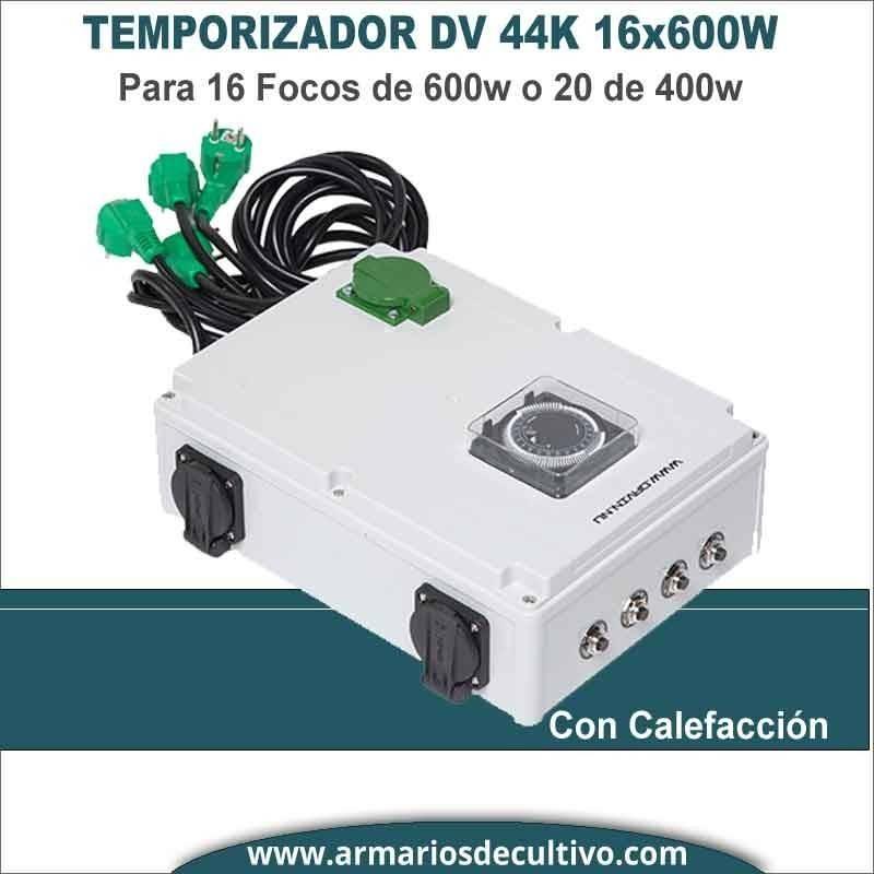 Temporizador Davin DV 44K 16x600w con calefacción