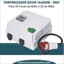 Temporizador Davin DV 44K 16x600w 380V