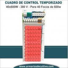 Panel de control temporizado 40x600W 380V
