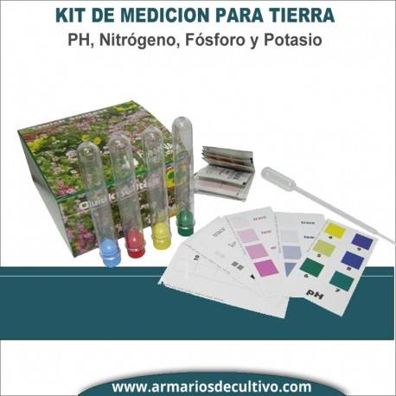 Kit medición PH, Nitrógeno, Fósforo Y Potasio