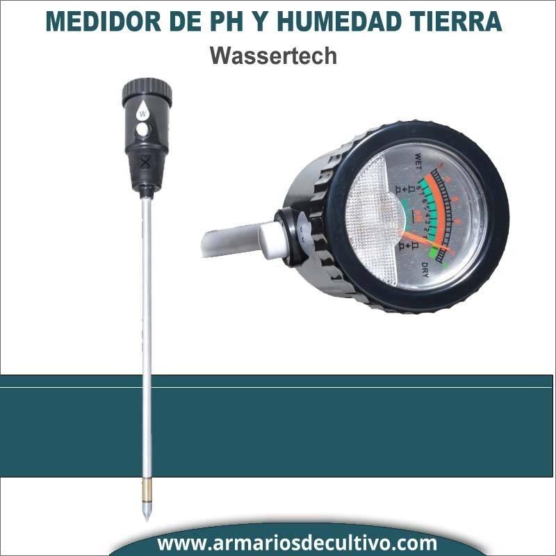 Medidor de Ph y Humedad Profesional para suelo