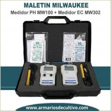 Maletín Medidor PH Mw100 + EC MW302 Milwaukee