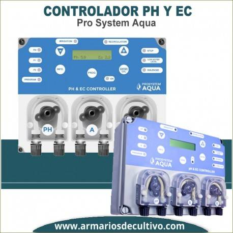 Monitor Controlador de PH y EC Pro System Aqua