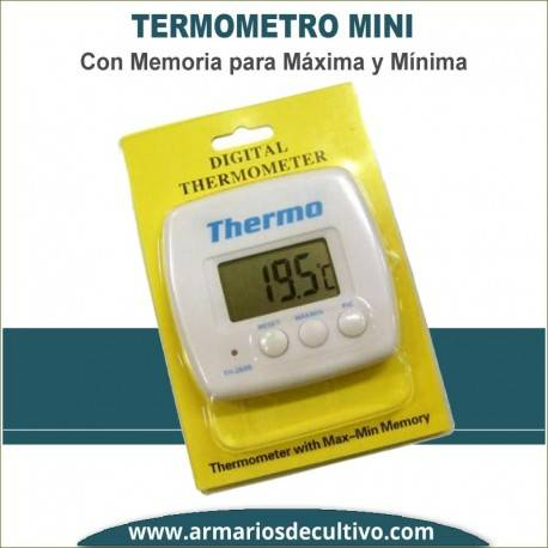 Mini Termometro Máxima y Mínima
