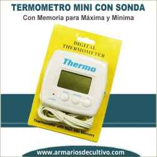 Mini Termometro con Sonda Máxima y Mínima