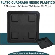 Plato Cuadrado Negro