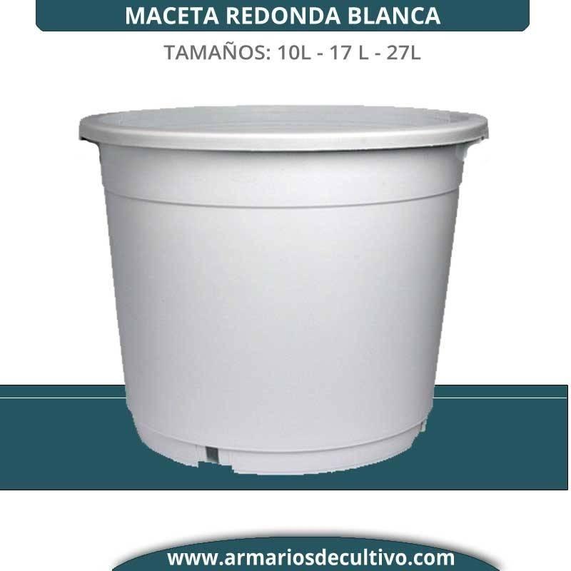 Maceta Redonda Blanca