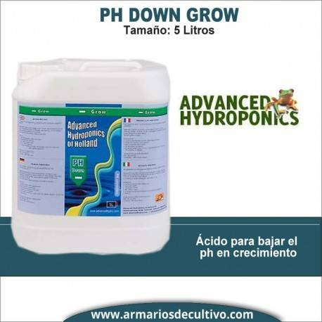 Ph- Down Grow Advanced Hydroponics (5 litros)